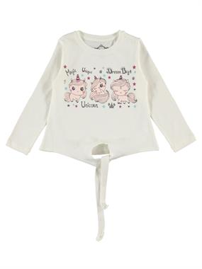 Cvl 2-5 Years Kujju Girl Kids Sweatshirt Ecru
