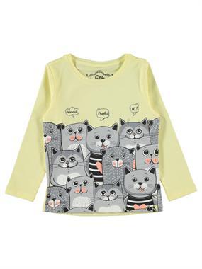Cvl Girl Kids Sweatshirt Yellow 2-5 Years