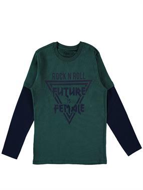 Cvl Yesil Sweatshirt Boy Age 10-13