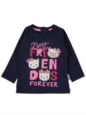 Kujju 6-18 Months Baby Girl Navy Blue Sweatshirt