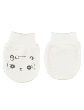 Baby Center 2'ii Ecru Baby Gloves