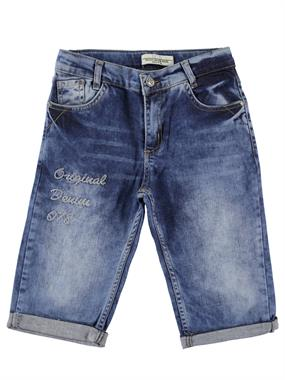 Mutlu 8-12 Years Navy Blue Boy Jeans Capri