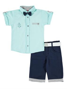 Kumru The Brunette Boy With A Bow Tie Mint Green Team 2-5 Years