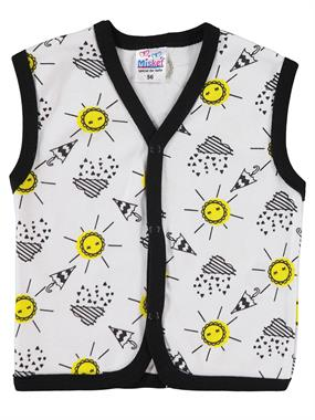 Misket 1-9 months baby Vest Yellow