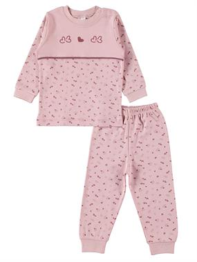 Misket A Pajama Outfit Baby Girl 3-12 Months Powder Pink