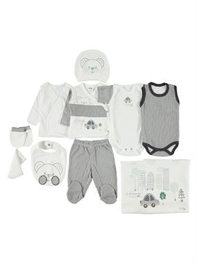 Civil Baby 0-3 months baby boy Set of 10 Smoked Zibin