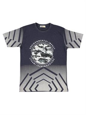 Mr.icon Mr. Boy Navy Blue Icon T-Shirt 9-12 Years