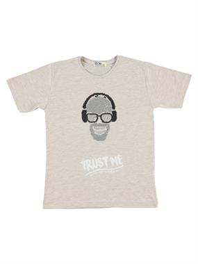 Mr.icon Mr. Boy Icon T-Shirt Beige 9-12 Years