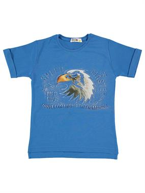 Mr.icon Mr. Boy Icon T-Shirt Saks Blue 5-8 Years