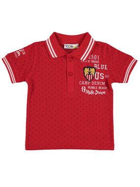 Popito Mr. Boy Icon T-Shirt In Red 1-5 Years