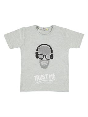 Mr.icon Mr. Boy Icon T-Shirt-Gray-9-12 Years