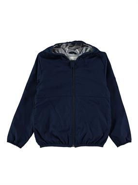 Civil Girls Navy Blue Hooded Raincoat-Age 6-9 Girl