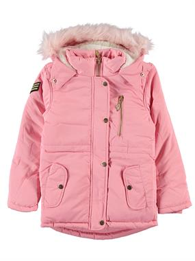 Civil Girls Powder Pink Hooded Jacket Age 6-9 Girl
