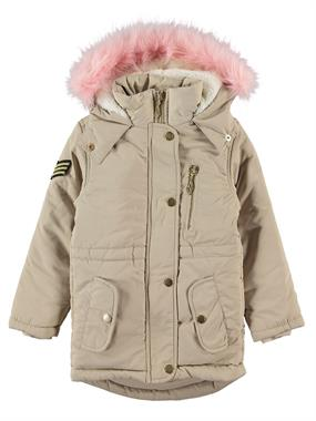 Civil Girls Girl's Hooded Jacket Beige, 2-5 Years