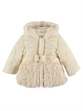Civil Girls Chirping 2-5 Months, Baby Girl White Hooded Jacket
