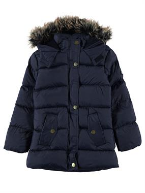 Civil Girls Girl's Navy Blue Hooded Jacket Age 6-9