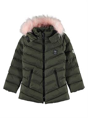 Civil Girls The Civil Boys Girls Khaki Hooded Coat Age 6-9