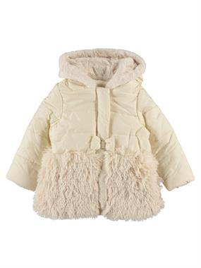 Civil Girls 2-5 Months, Baby Girl Hooded Jacket Beige Chirping
