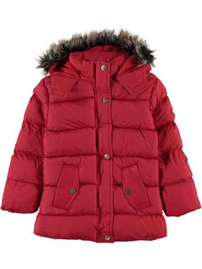 Civil Girls Girl Red Hooded Jacket Age 6-9