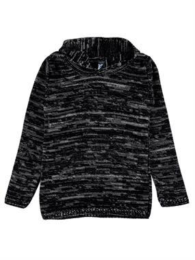 Civil Boys Sweater Knitwear Hooded Black Boy Age 10-13