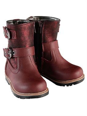 Elifsu Burgundy Boy Girl Boots 21-25 Number