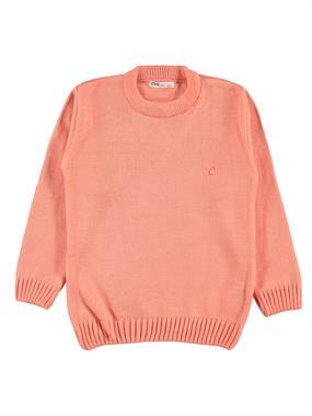 Civil Girls Girl Age 6-9 Children's Knitwear Sweater Salmon