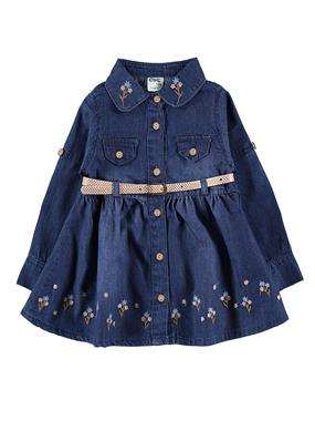 Civil Baby Baby Girl Denim Dress Blue-6-18 Months