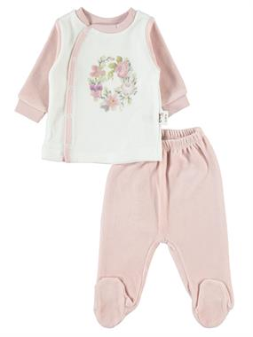 Nenny Baby Chirping Baby Girl Suit Baby 0-6 Months, Powder Pink