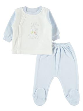 Nenny Baby Chirping Baby Suit 0-6 Months Baby Boy Blue