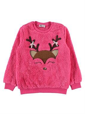 Cvl Kız Çocuk Sweatshirt 6-9 Yaş Fuşya